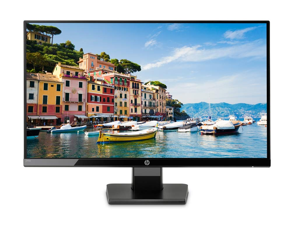 HP 24w 24 inch LED Monitor (1920 x 1080 Pixel Full HD (FHD) 5ms 60hz Refresh Rate HDMI VGA)