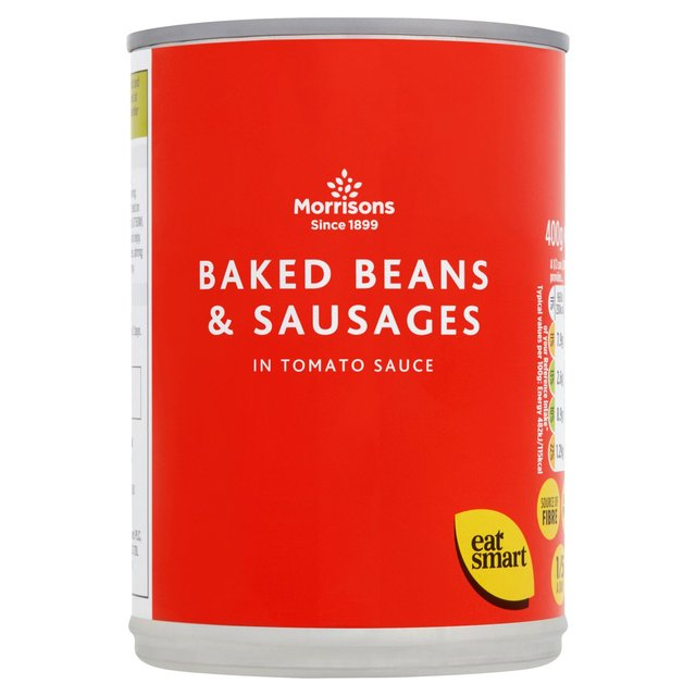 Morrisons Baked Beans & Sausages 400g for £0.4