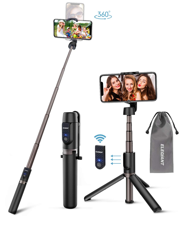 ELEGIANT Selfie Stick Tripod, 3 in 1 Mini Extendable Selfie Stick