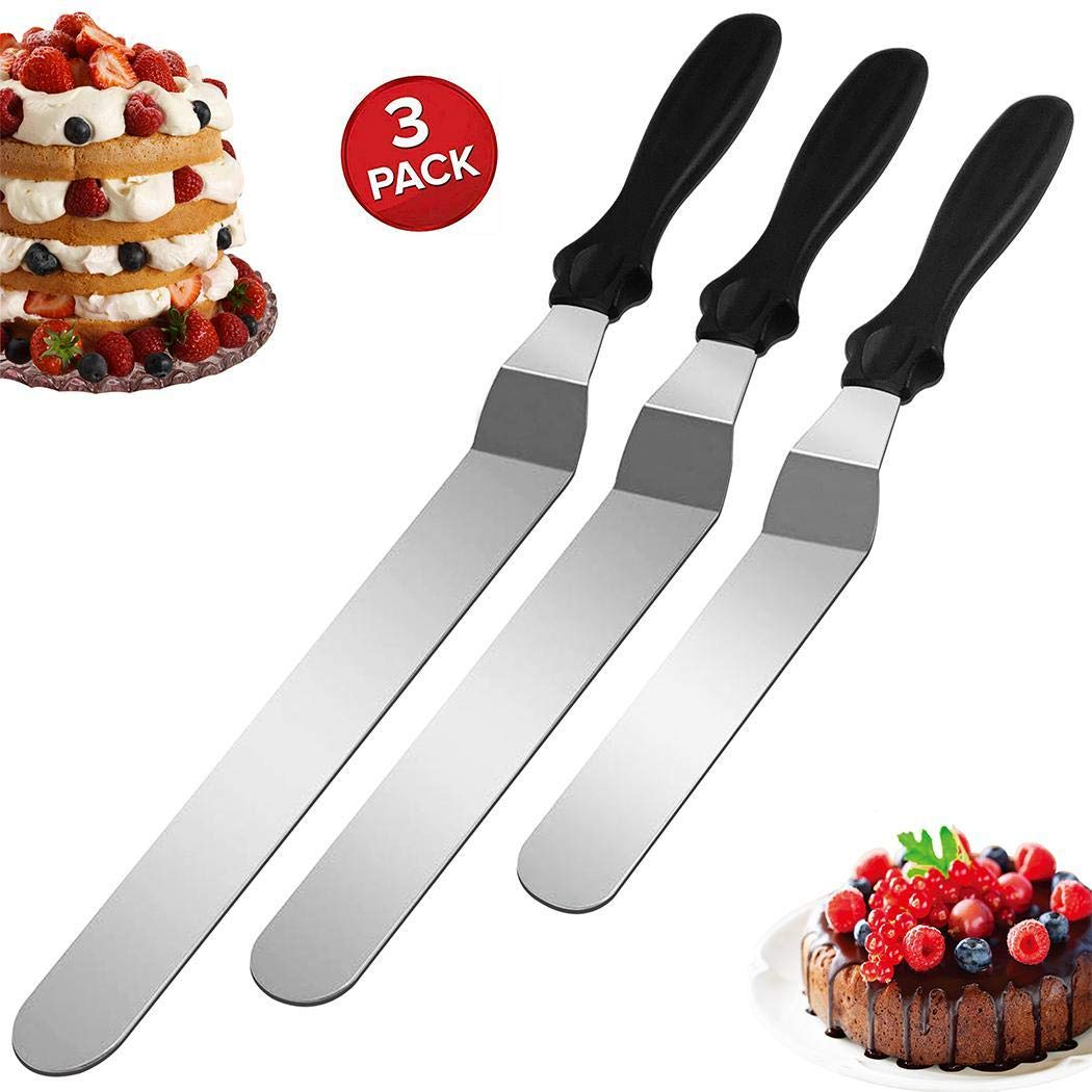 80% off Qiopes Kitchen Reusable Stainless Steel Cake Spatula Set Baking Tools