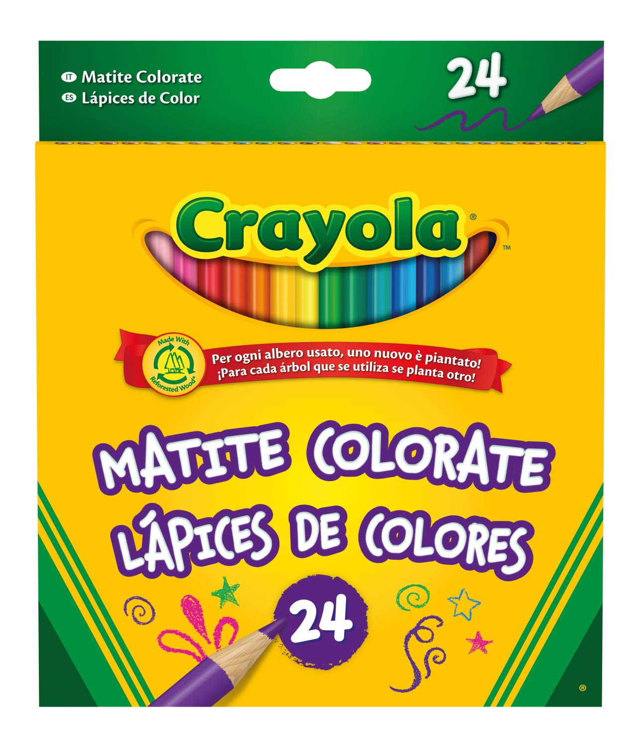 24 Crayola Coloured Pencils £3.24 + FREE delivery