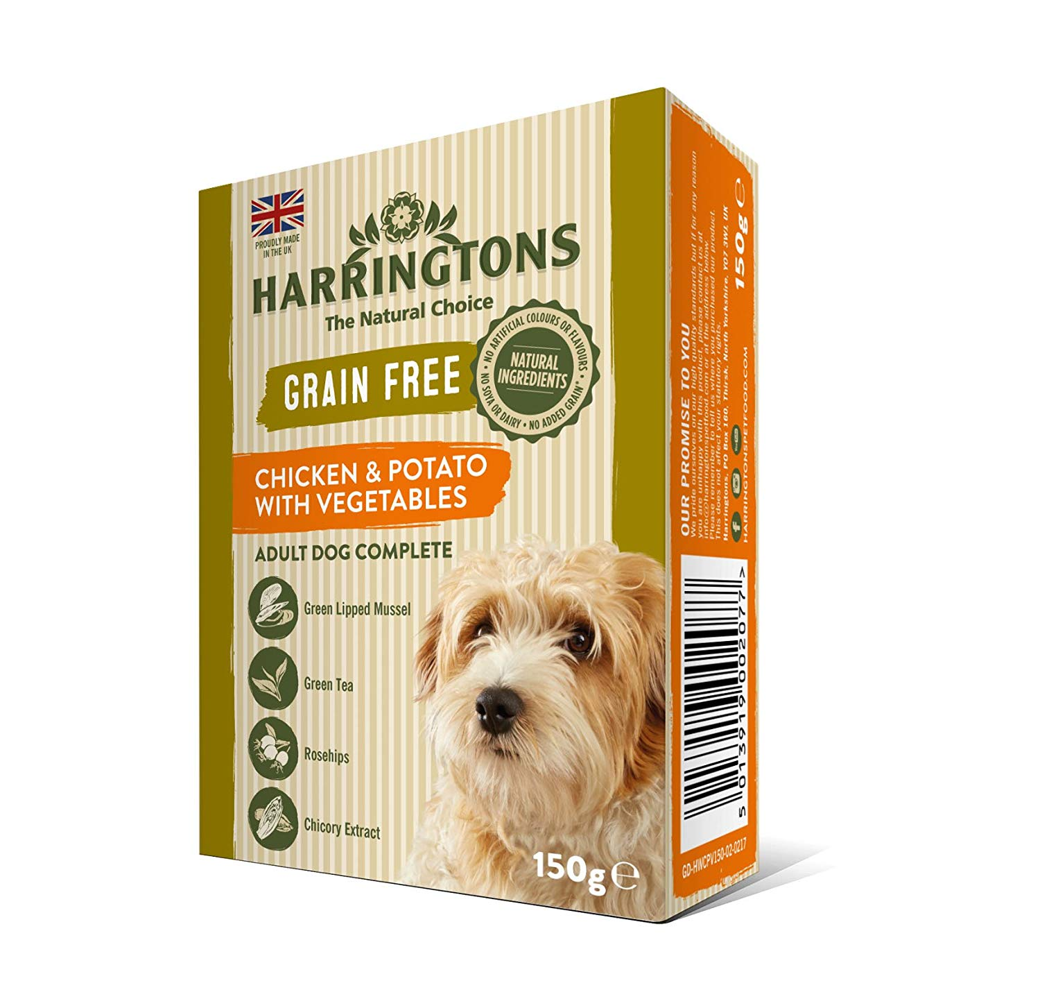 Amazon Pantry Harringtons Wet Chicken and Potato Dog Food, 7 x 150 g – £3.5