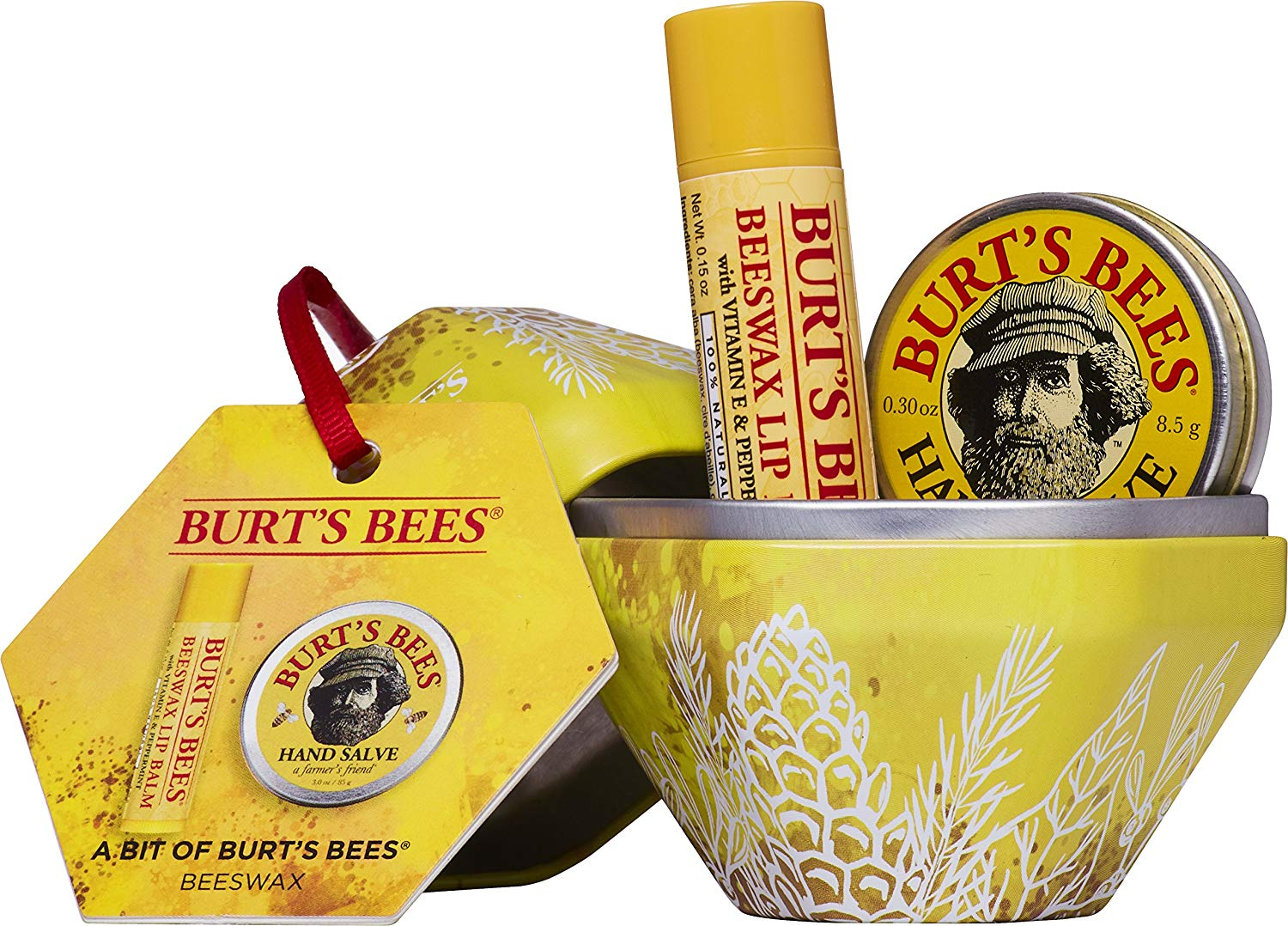 Burt's Bees Natural Gift Set, Beeswax Lip Balm + Hand Salve