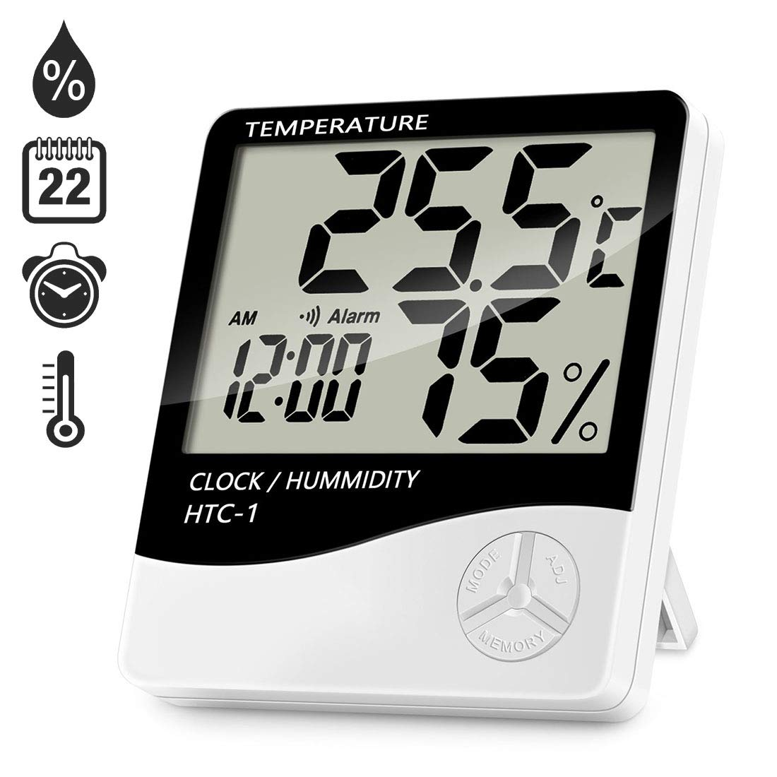 80% off REETWO Alarm Clock Thermometer Hygrometer