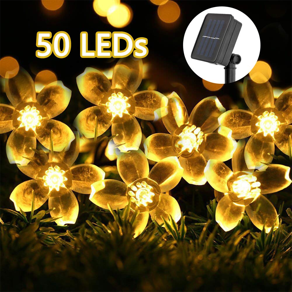 70% off Solar String Lights, GreenClick Solar Fairy Lights Outdoor 23ft 50 LEDs Solar String Garden Lights