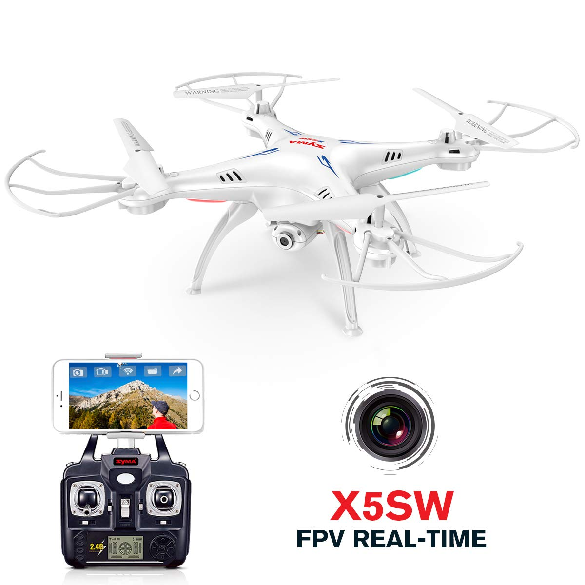 70% off Syma X5SW RC 2.4G 6-Axis FPV Quadcopter Drone Helicopter Headless