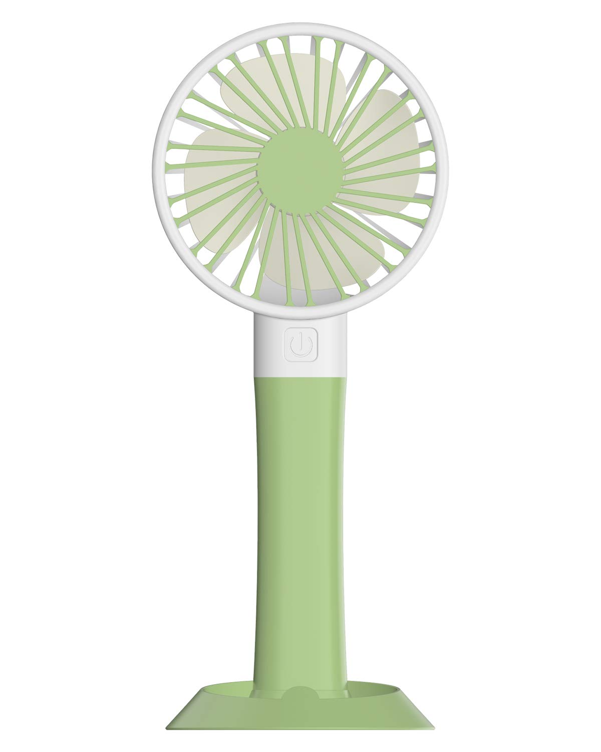 Brilex Handheld Mini USB Fan with Colored Light, 3 Wind Power Modes