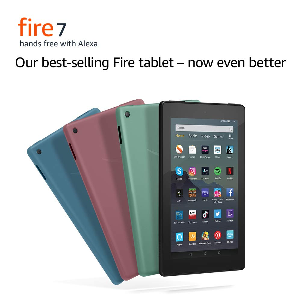 All-new Fire 7 Tablet | 7″ display, 16 GB Now £15 off