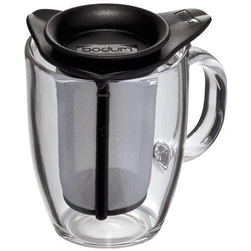 Bodum K11239-01 YO-YO Glass Mug with Tea Strainer (0.35 L/12 oz)