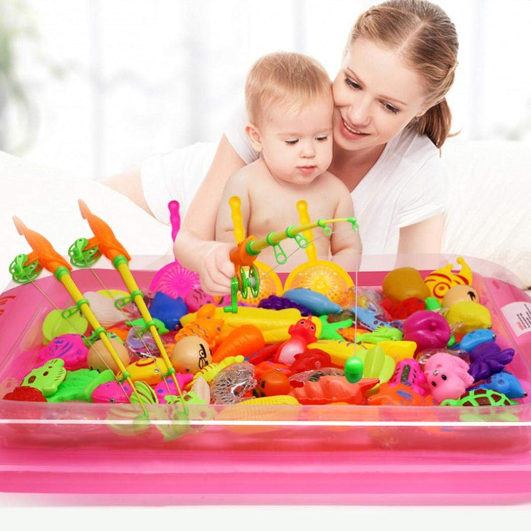 80% off Minlop 22 Pcs Magnetic Fishing Toys Game Set for Kids