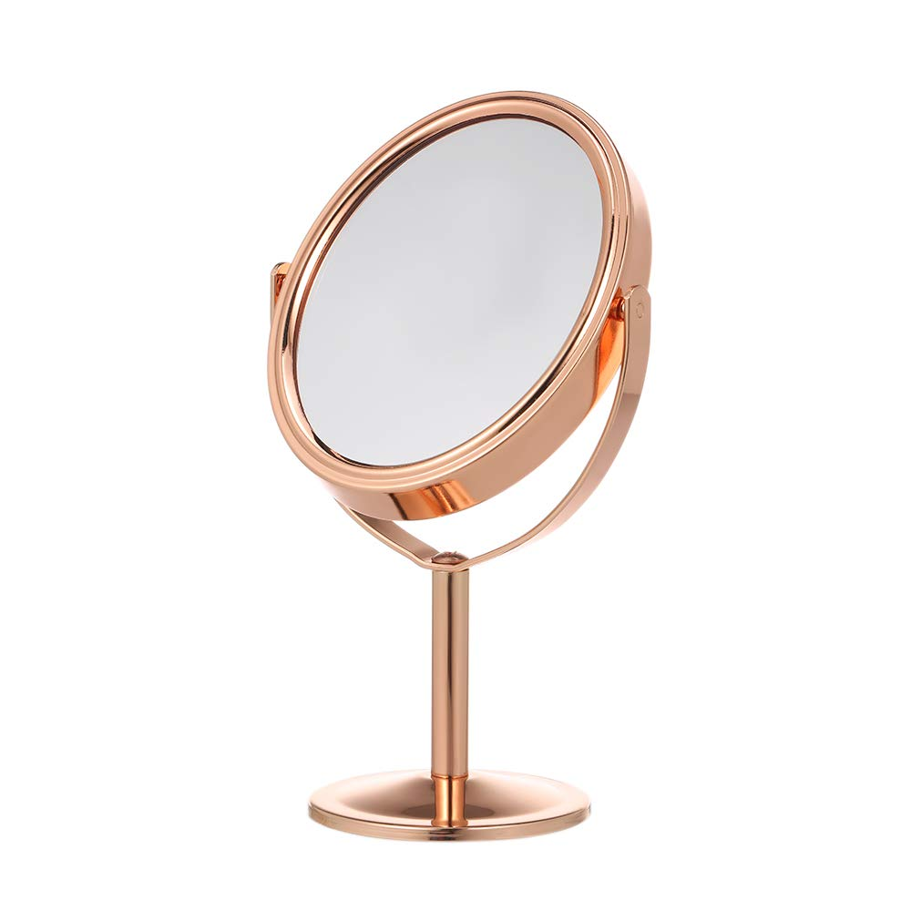 Anself Double Sided Tabletop Makeup Mirror 1 X & 2 X Magnifying