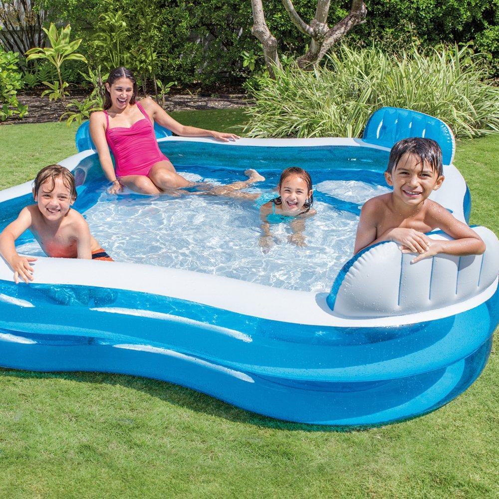 Intex Swim Centre Family Pool with Seats 56475NP, 229 x 229 x 66 cm