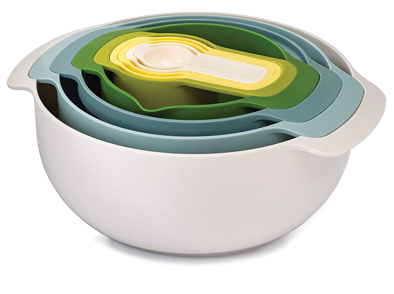 Joseph Joseph Nest 9 Plus Nesting Set, Opal – Multi-Colour, 9 Piece £24.39