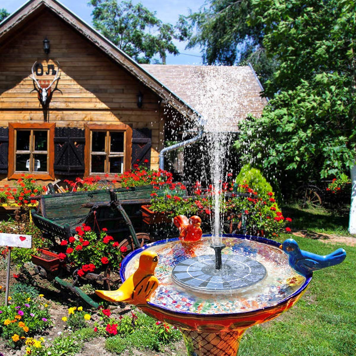 Gocheer Solar fountain Pump, Garden Solar Water Pump Panel Kit