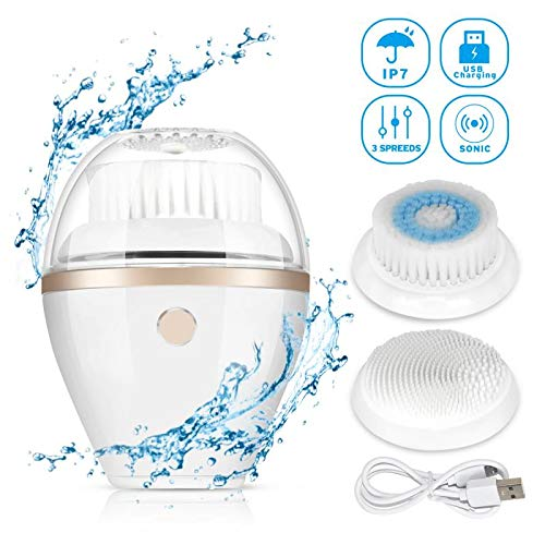 Vicknod Sonic Electric Facial Cleansing Brush Heads for Exfoliating and Massaging