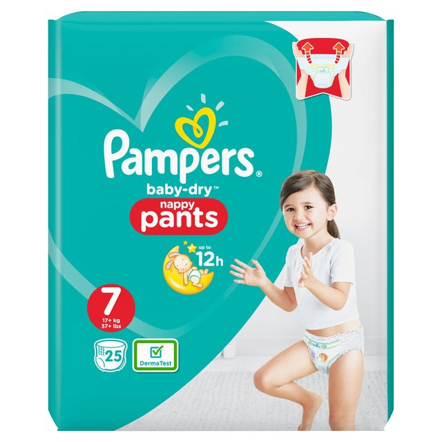 Buy 3 for £15 Pampers Baby – Dry Nappy Pants 7