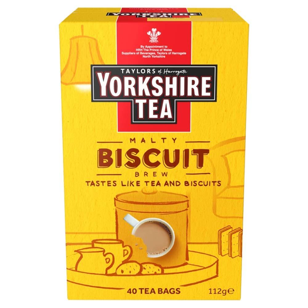 Yorkshire Tea Biscuit Brew Tea Bags, Pack of 4 (total of 160 tea bags) Now £6