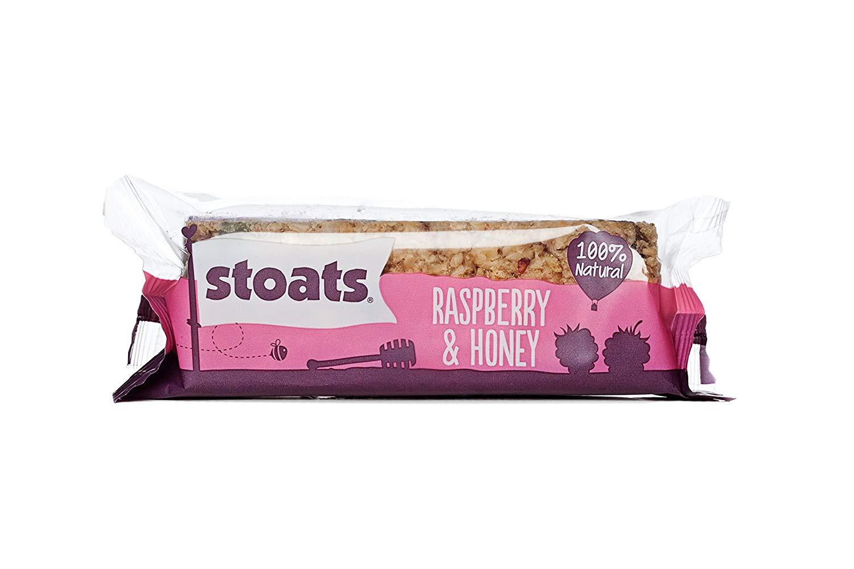 Stoats Raspberry and Honey Porridge Oat Bars, 50 g (Pack of 18) for £6.75