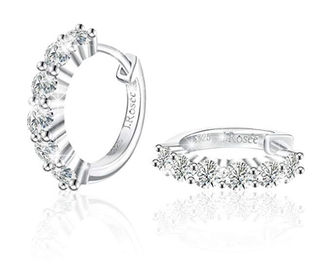85% off J.Rosée Hoop Earrings, 925 Sterling Silver High Polished Earrings