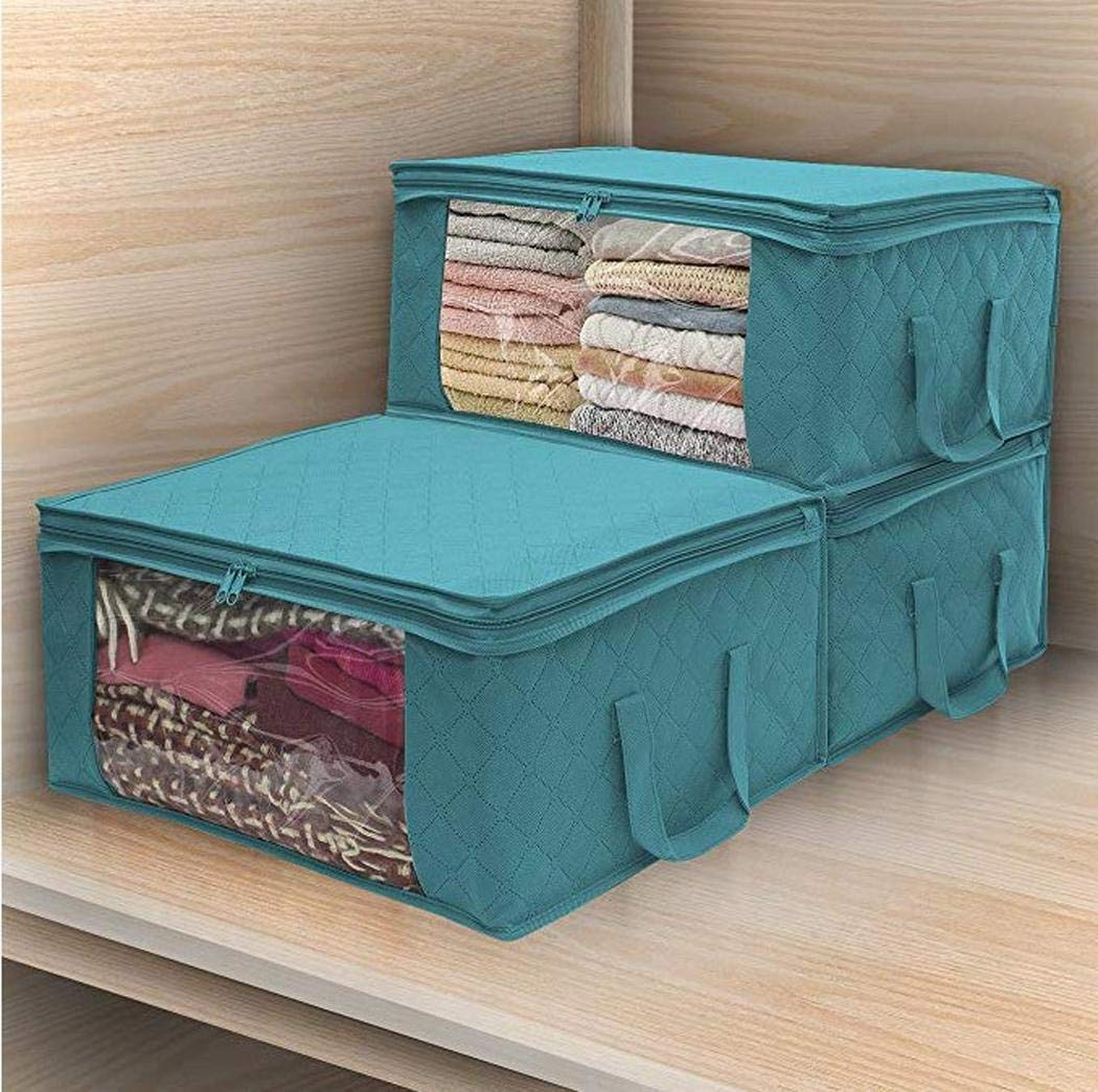 80% off Home Foldable Zipper Storage Bags Clothes Bedding Pillows Quilt Organizer
