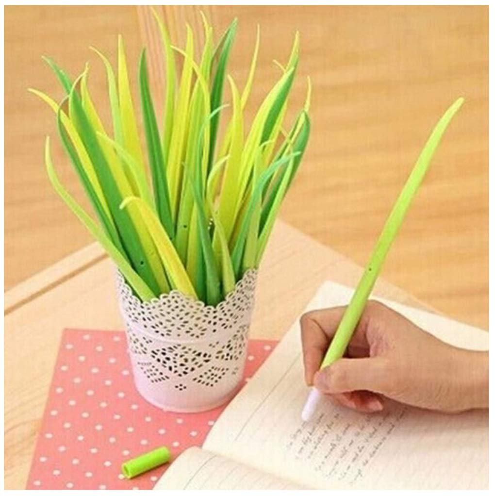 12pcs/set Novelty Grass Leaf Ball Point Pen
