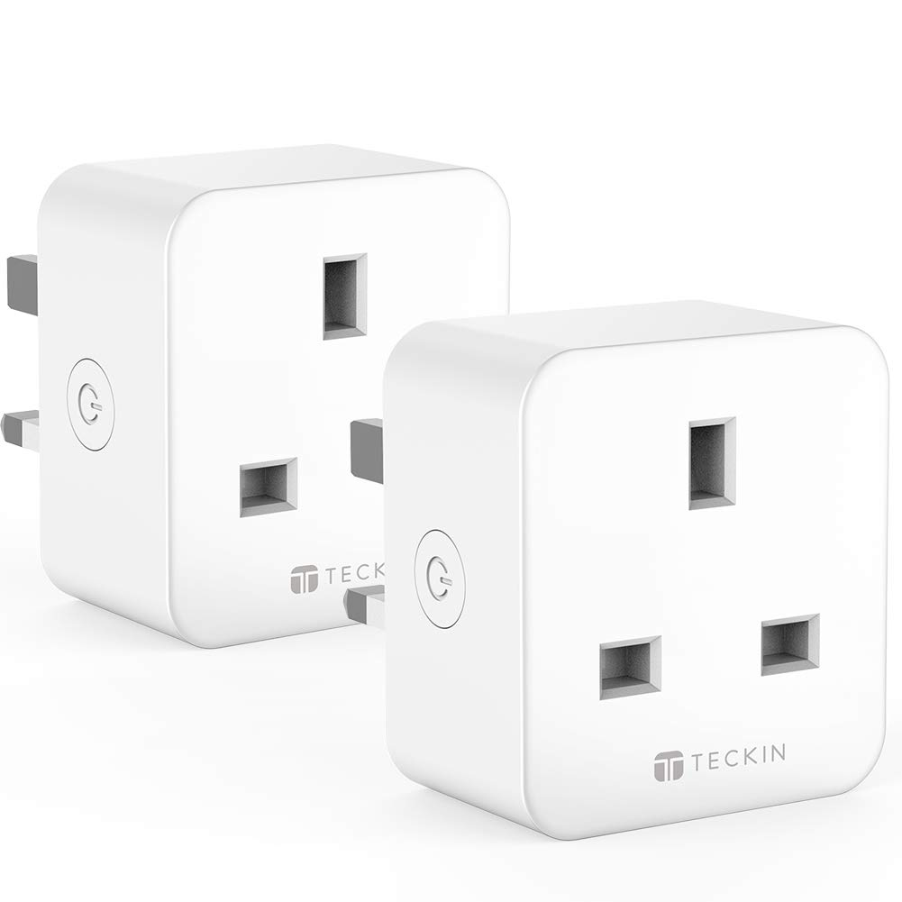 TECKIN Smart Plug WiFi Socket Works with Alexa Google Home No Hub Required, 16A (2 Pack)