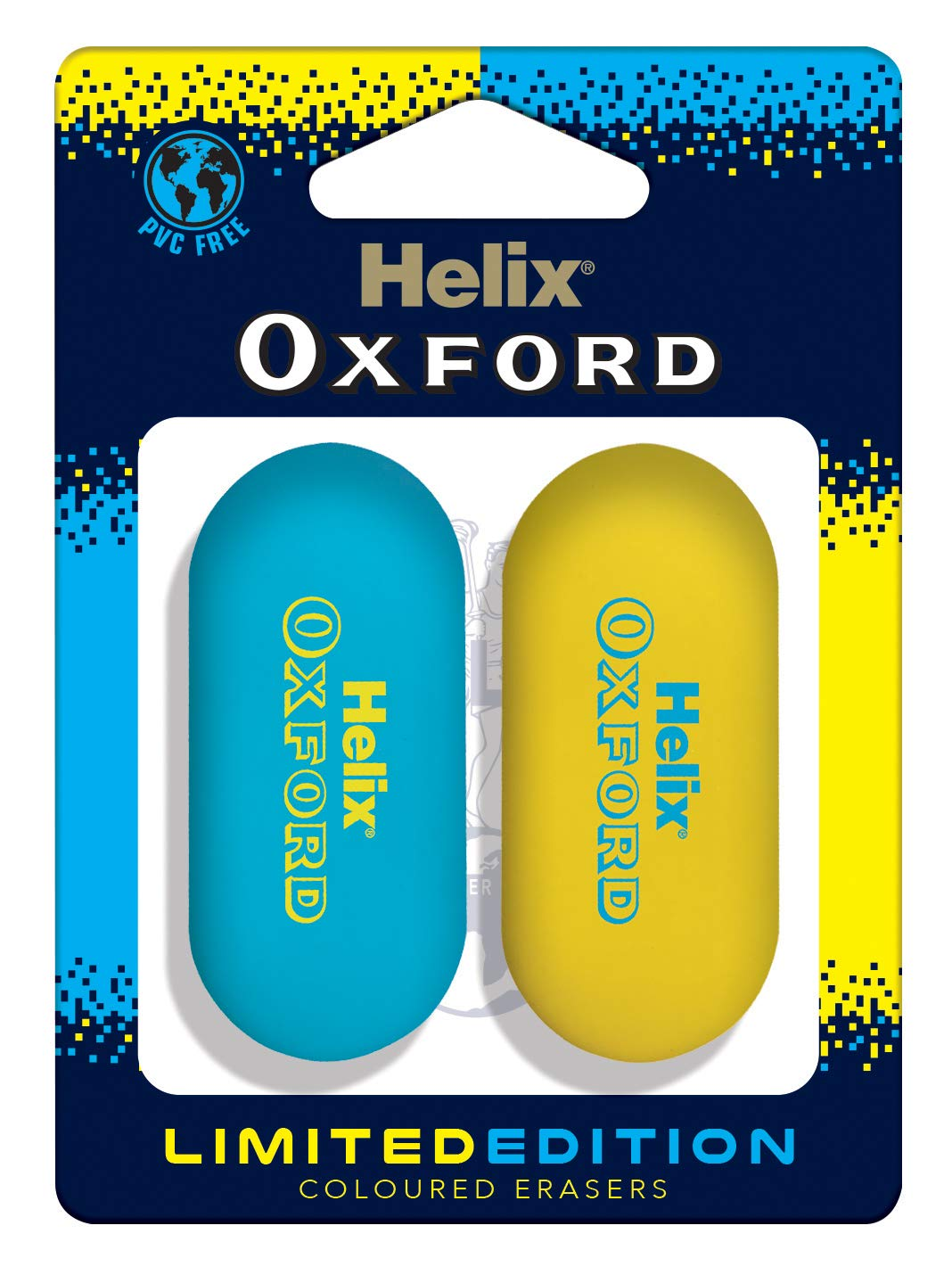 Helix Oxford Clash Twin Pack of Erasers add – on item