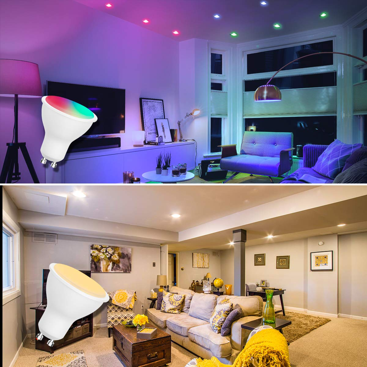Colour Changing Bulbs,RGB LED Bulb,JandCase GU10 Light Bulb