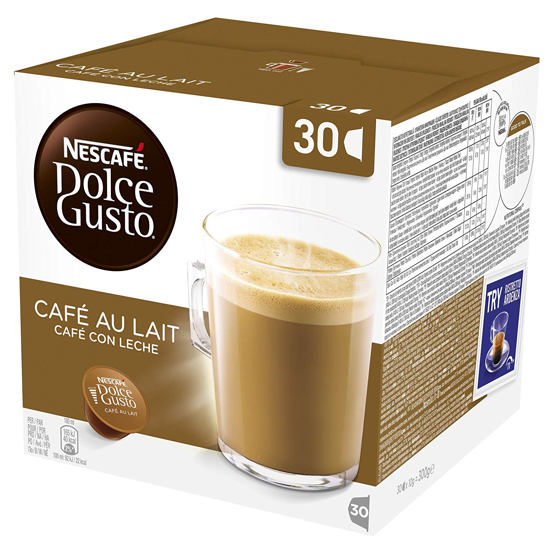 Amazon Pantry Nescafé Dolce Gusto Cafe au Lait Coffee Pods, 30 Capsules (30 Servings)