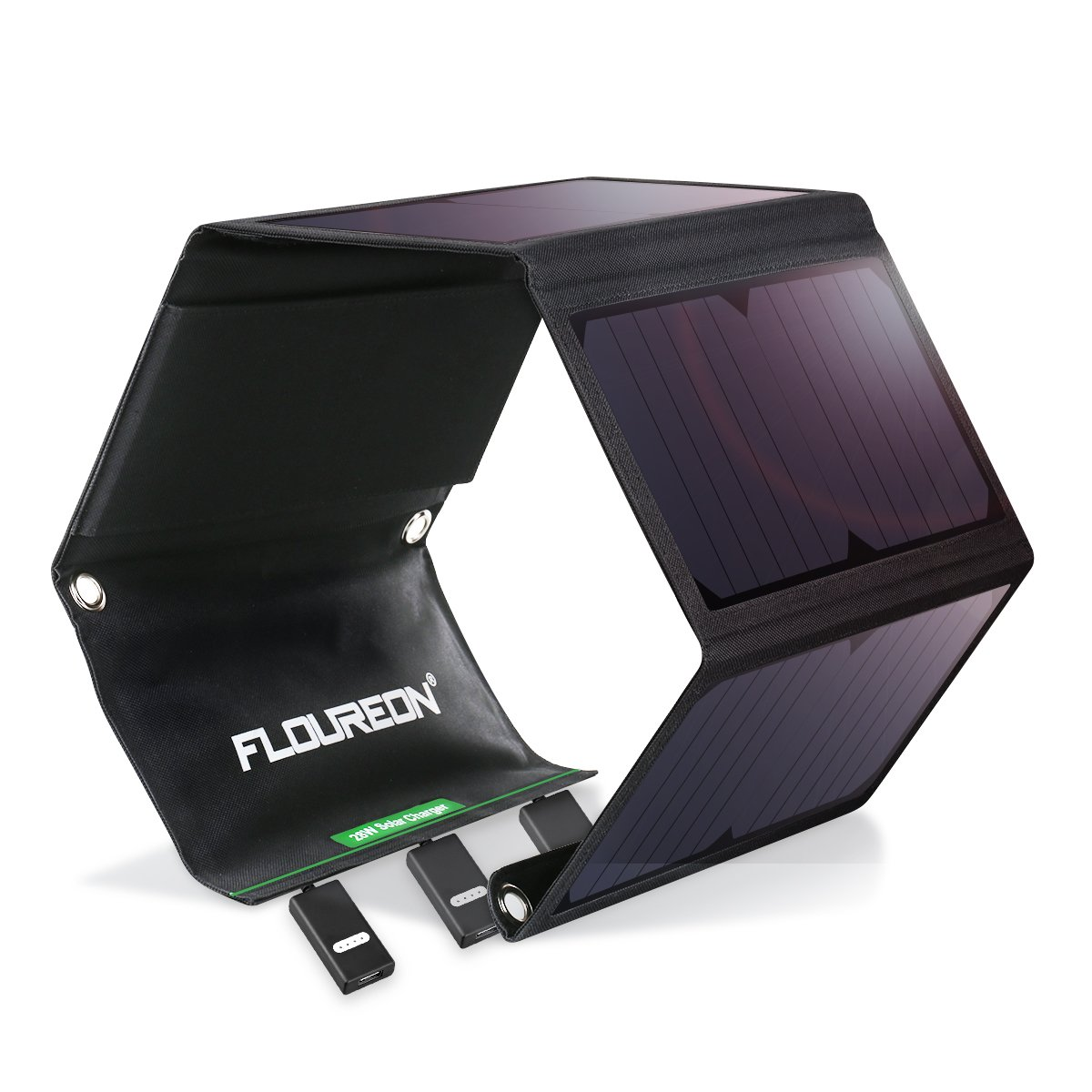 FLOUREON Solar Charger 28W Solar Panel Charger Phone Solar Charger