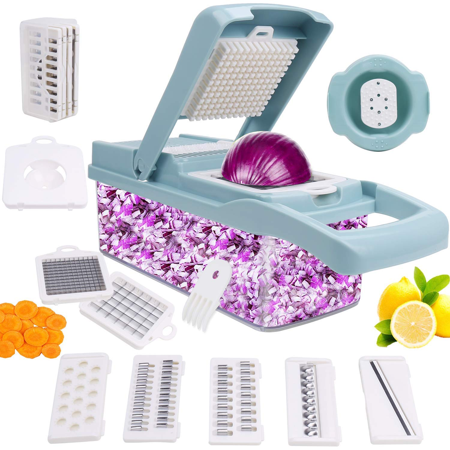 Vegetable Chopper,Fruits Cutter,12-in-1 Vegetable Cutter Mandoline Slicer Food Chopper/Cutter