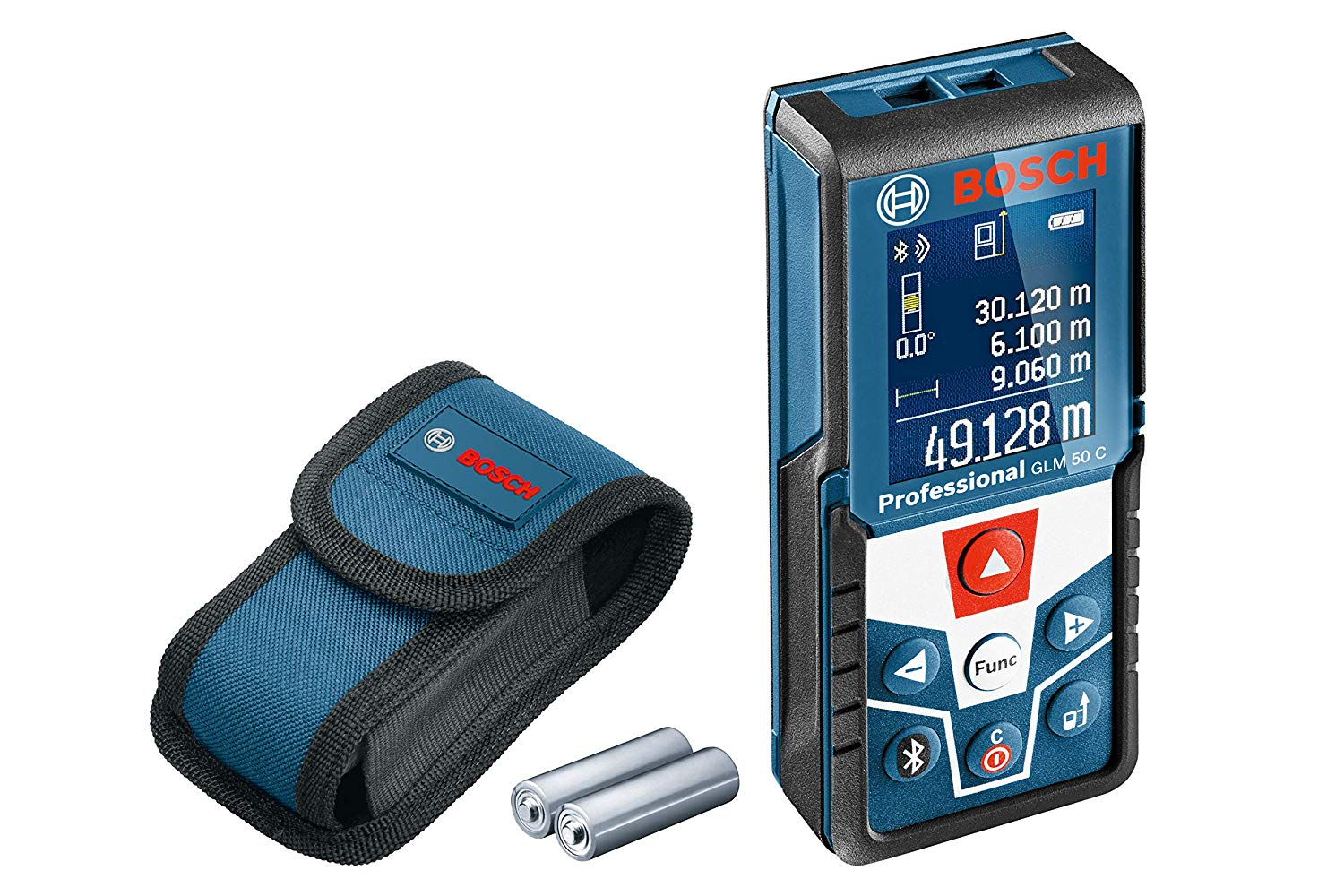 Bosch 50 C Professional Laser Measure with GLM Floorplan App, 1.5 V, Blue, bis m + Bluetooth on Amzon