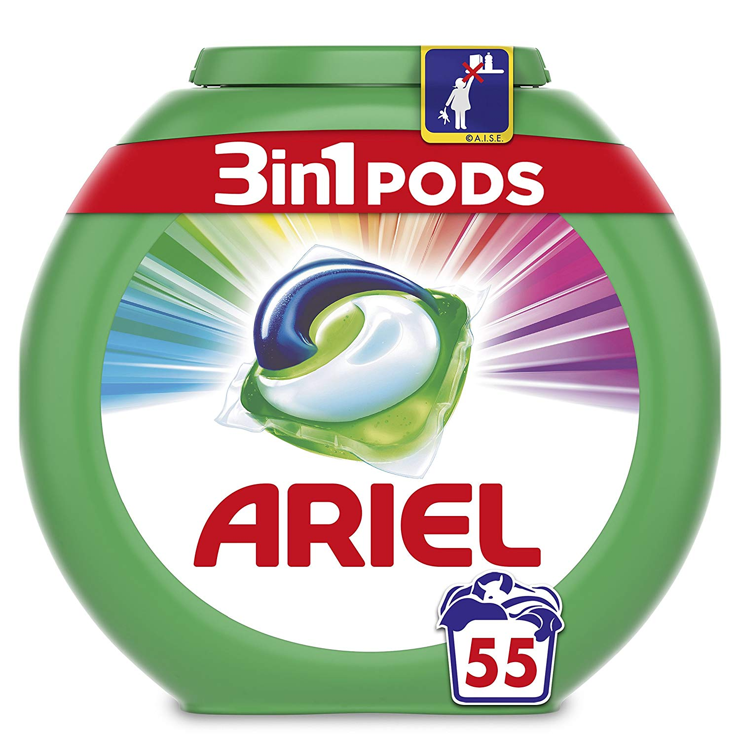 Amazon Pantry Ariel 3-in-1 Pods Colour and Style Washing Capsules, 55 Washes