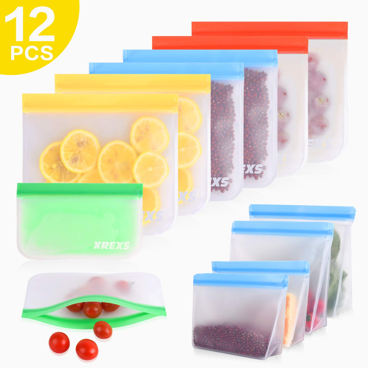 Reusable Food Storage Bags Pack of 12