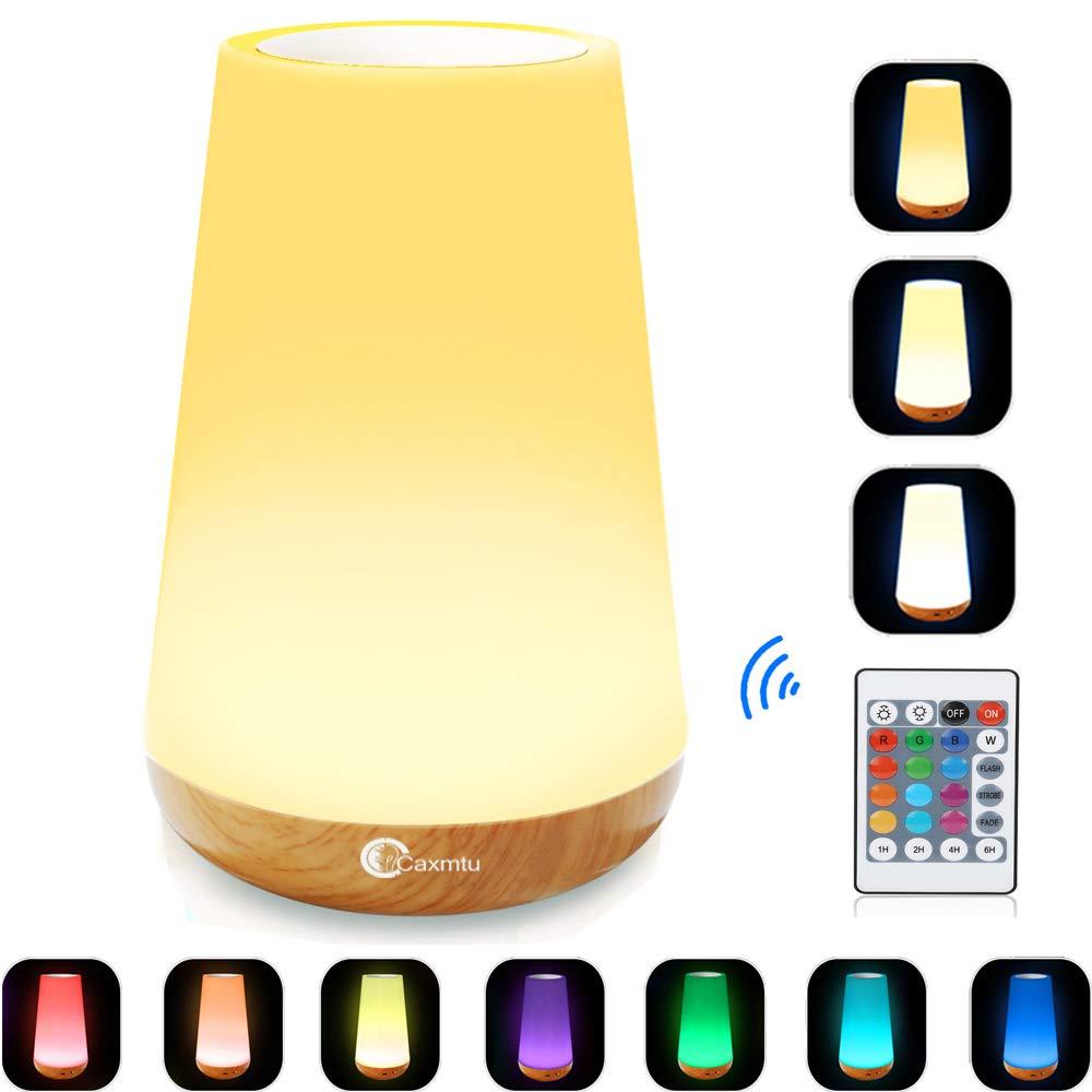 Caxmtu LED Nursery Night Light Touch Lamp