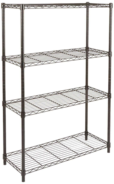 AmazonBasics 4-Shelf Shelving Unit, up to 160 kg per shelf