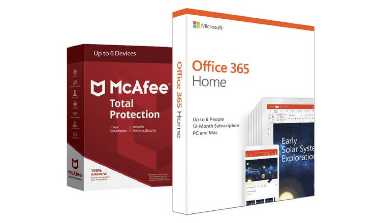 Microsoft Office 365 Home & McAfee Total Protection 6 Device – £39.99 at Argos