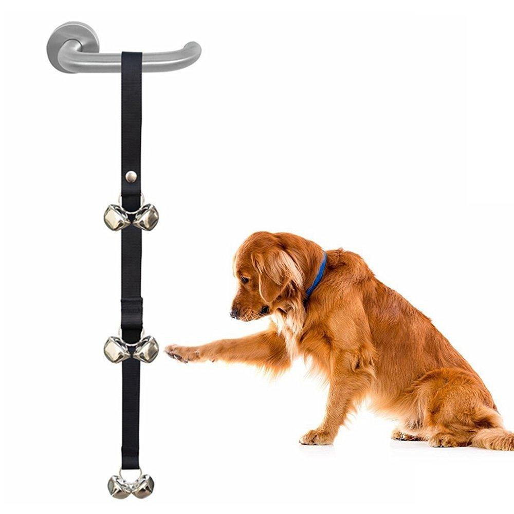 Zellar Dog Puppy Doorbells, Dog Puppy Potty Toilet House Training Door Bells