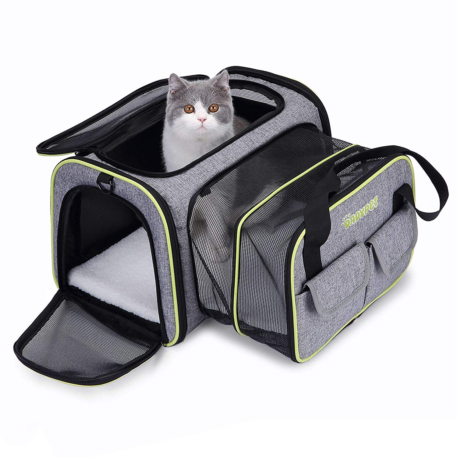 DADYPET Pet carrier, Expandable Travel Bag For Puppy Dogs Cats