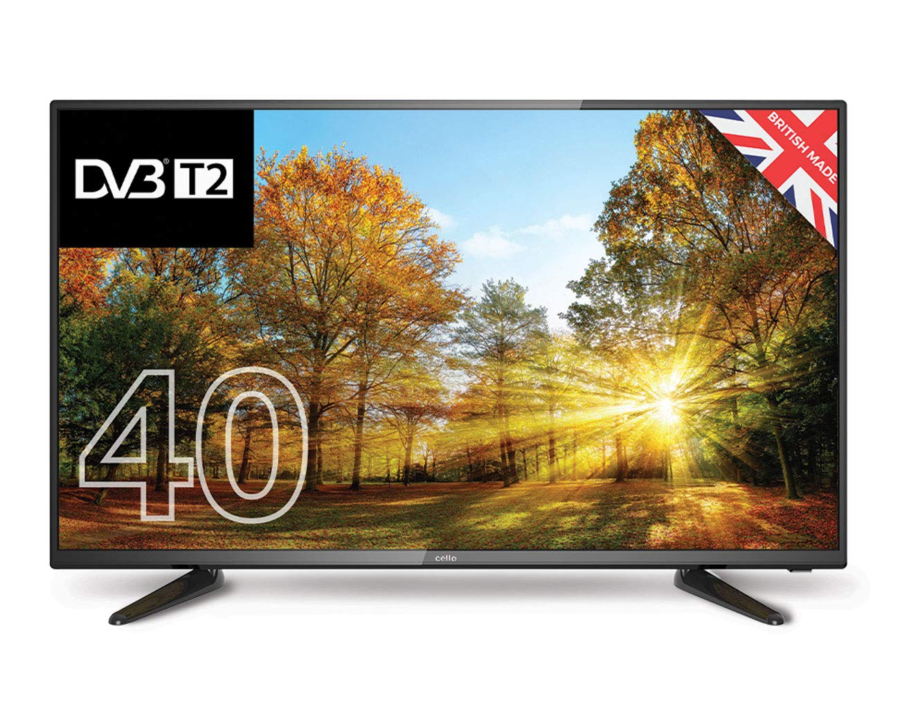 "Cello C40227FT2 40"" Full HD LED TV with Built-in DVD player and Freeview T2 HD – UK Made"