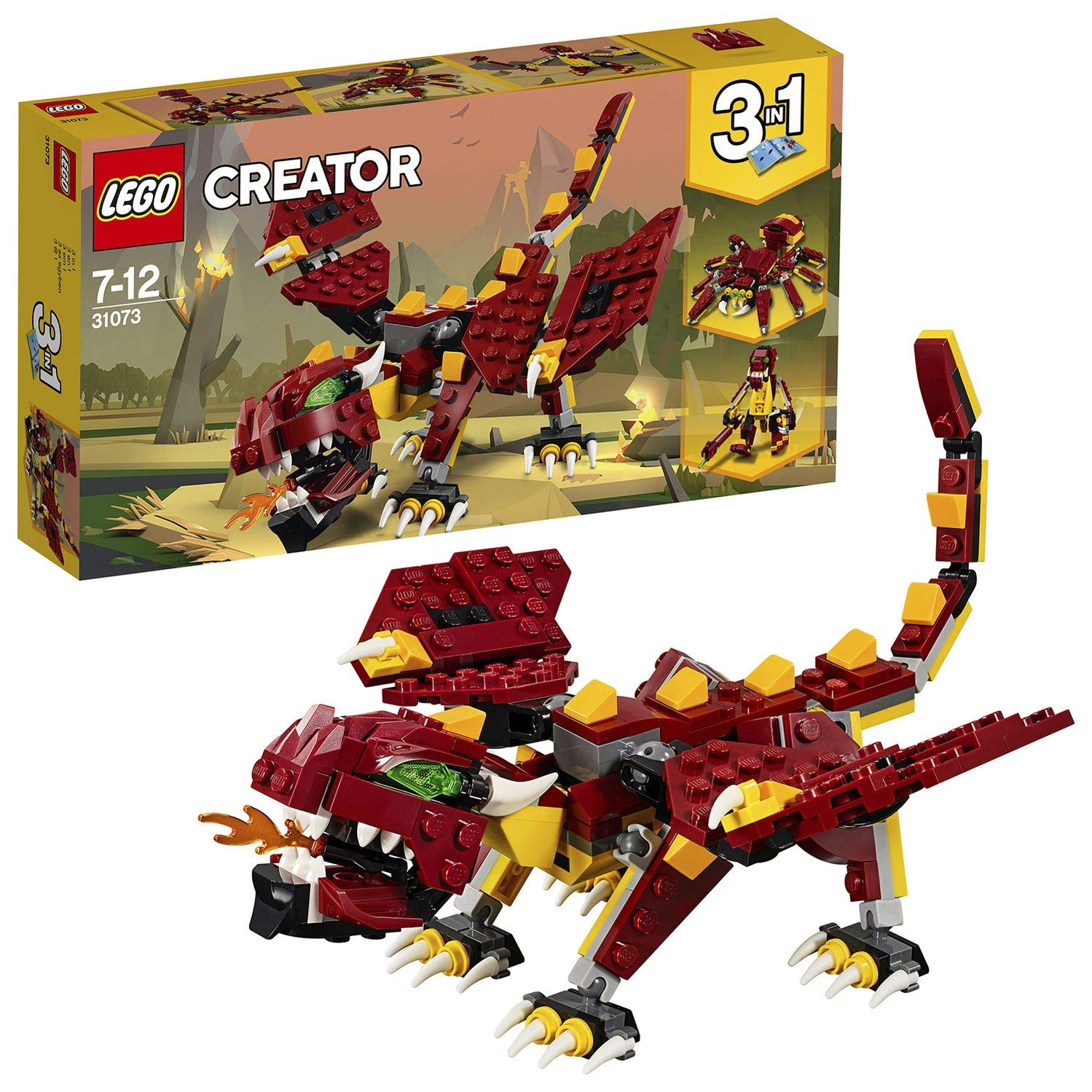LEGO Creator 3in1 Mythical Creatures Dragon, Giant Spider and Troll Action Figures Model Building Set