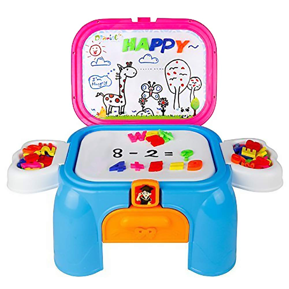 Magnetic Alphabet Number Drawing Desk Deluxe Painting Learning Play Set
