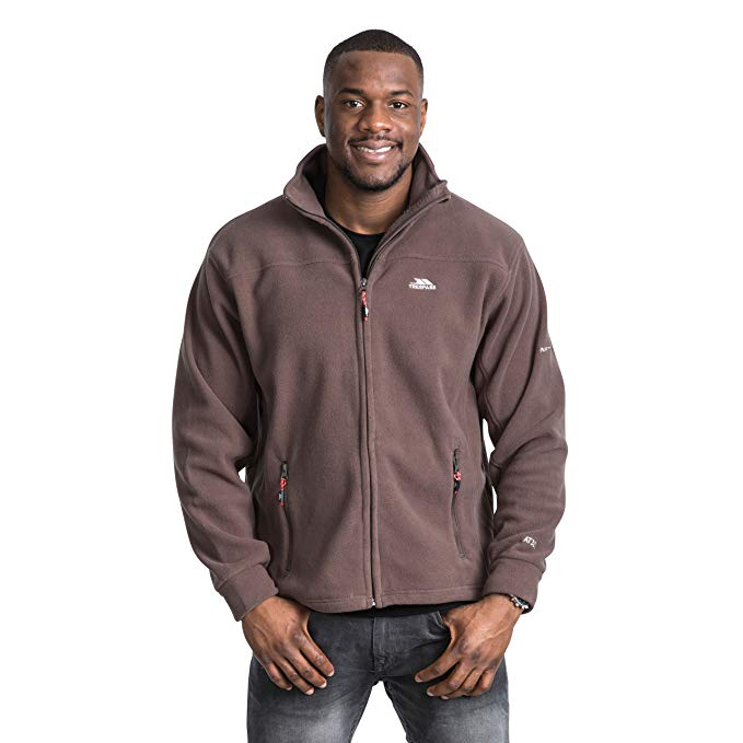 Trespass Bernal Men`s Sueded Full Zip Fleece Jacket