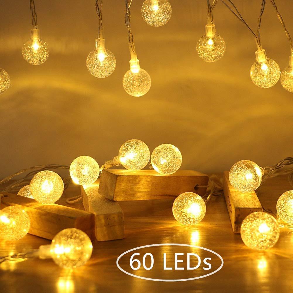 Globe Fairy String Lights 10M 60 LEDs Ollny Indoor Christmas Party Festoon Light