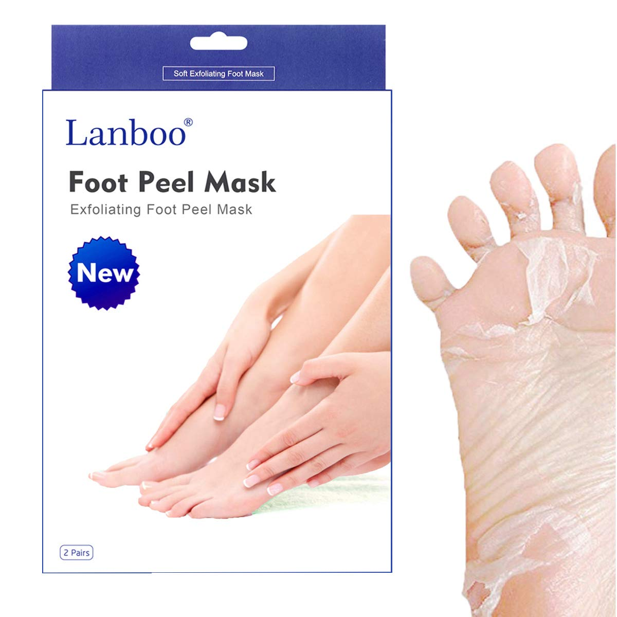 2 Pairs Lanboo Exfoliating Foot Peel Mask