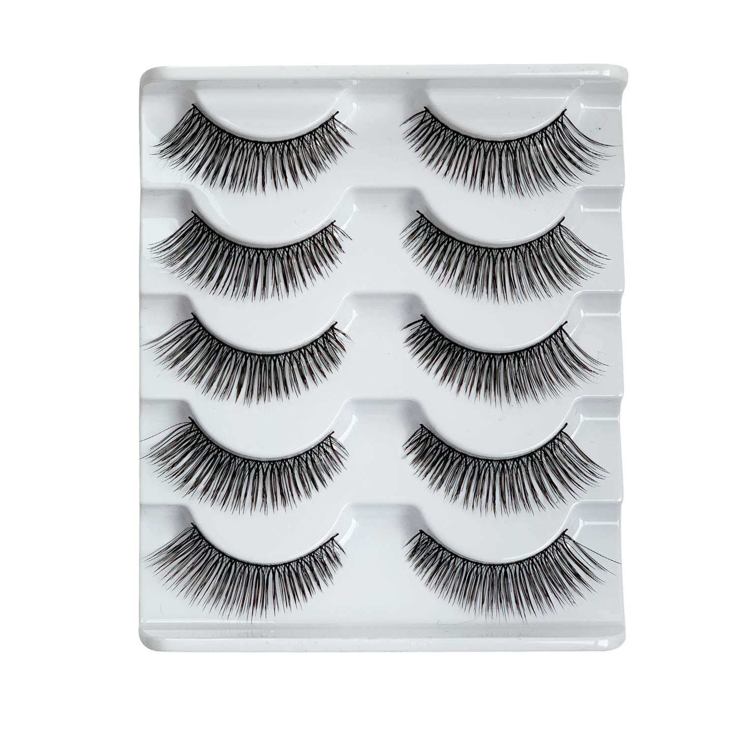 ALICE False Eyelashes Tapered End Natural Wispy Lashes Multipack 5 Pairs