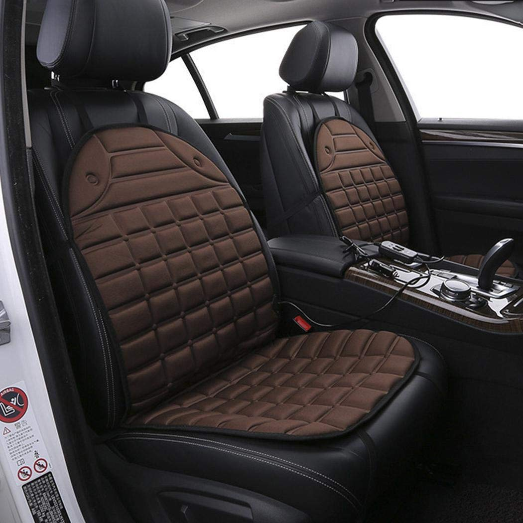 80% off 12V Car Heating Cushion Electric Heating Front Seat Cushion Cover Backrest