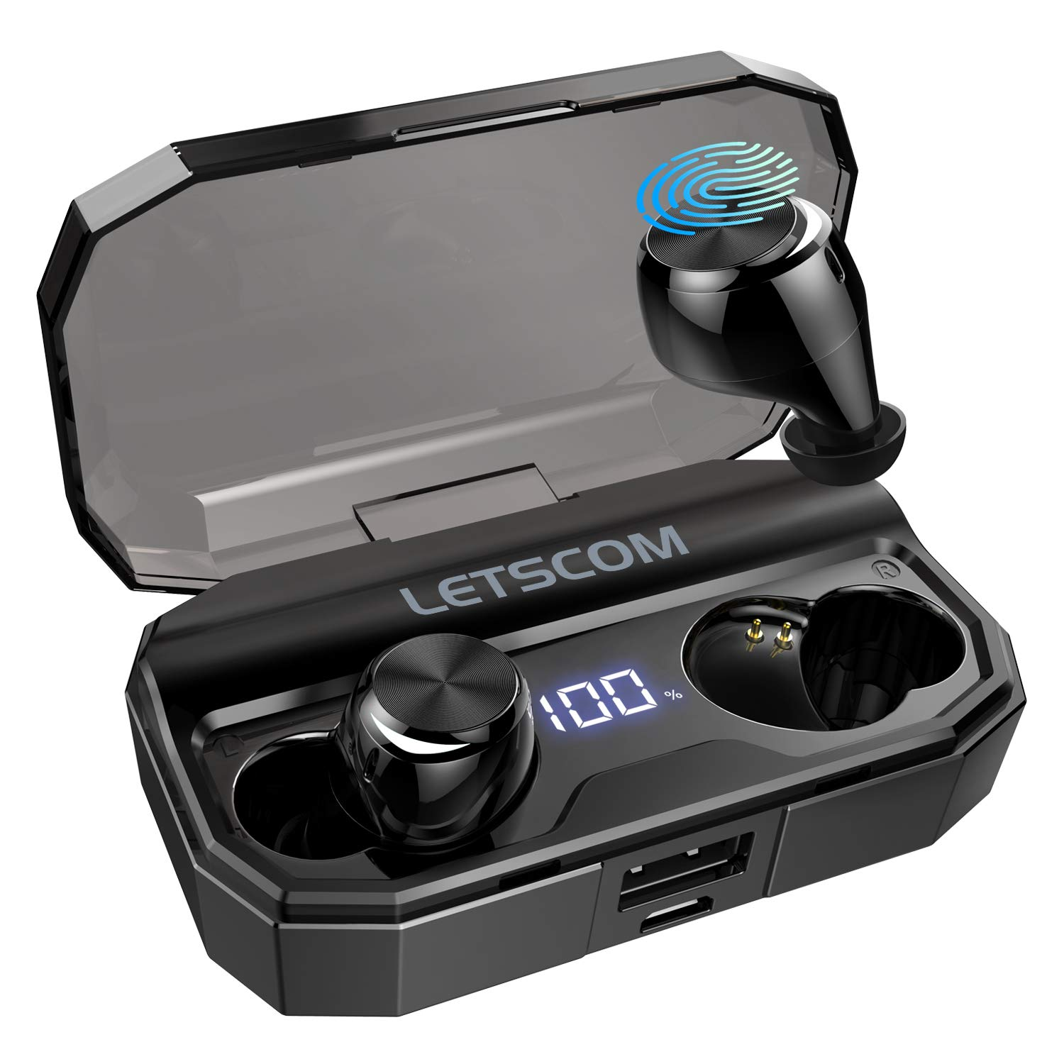 Wireless Headphones, LETSCOM Bluetooth 5.0 Headphones 80 Hours Playtime