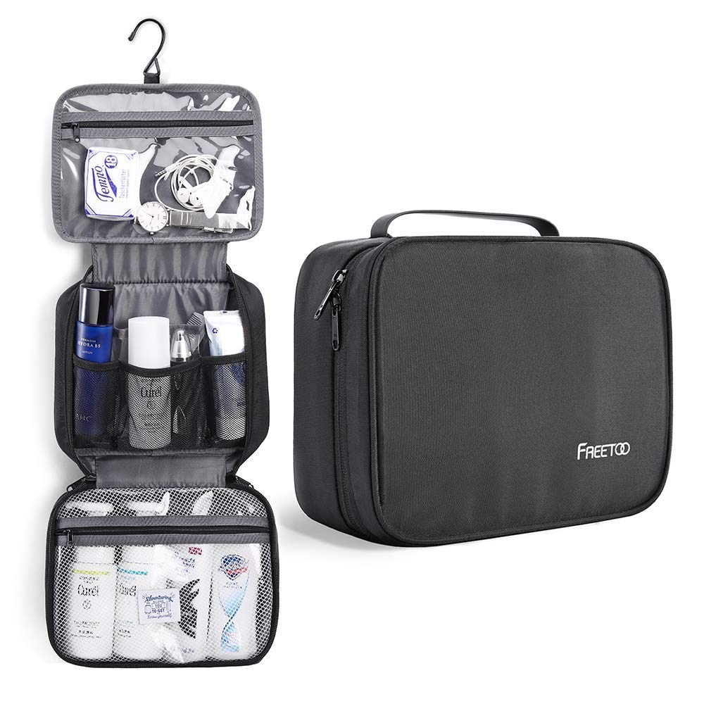 FREETOO Travel Toiletry Bag 6 Compartments Waterproof Portable Wash Travel Toilerty Bag
