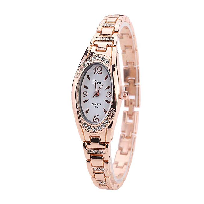 80% off Women Stainless Steel Thin Analog Quartz Wristwatch Gifts Wrist Watches